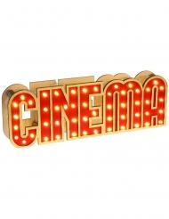Træ dekoration med lys Cinema 30 x 4 x 10 cm