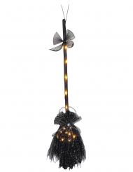 Hekse kost med lys 90 cm
