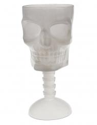 Selvlysende dødningehoved glas 18 cm