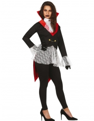 Sort gotisk vampyr kostume - kvinde