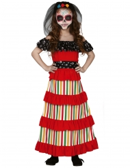 Dia de los muertos mexicansk kostume - pige