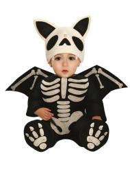 Skelet flagermus kostume baby