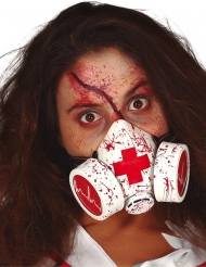 Blodig gasmaske - voksen