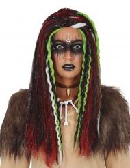 Voodoo paryk med striber - kvinde