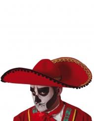 Dia de los muertos sombrero rød
