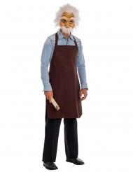 Forklæde og maske Geppetto™ voksen
