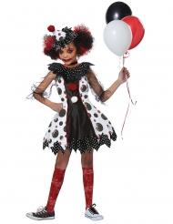 Skrækindgydende klovn kostume - pige