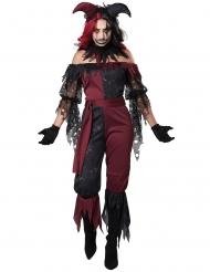 Psykopat joker kostume - kvinde