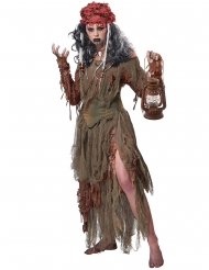 Sump voodoo mester kostume - kvinde