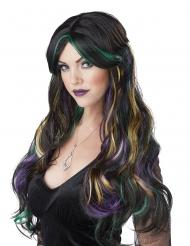 Paryk lang sort balayage farvet - kvinde