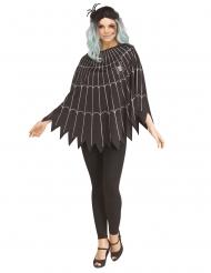 Poncho spindelvæv sølv - kvinde