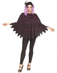 Poncho spindelvæv lilla - kvinde