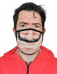 Ansigtsmaske rød røver - voksen
