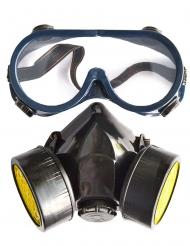 Sæt med briller og gasmaske - voksen