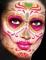 Midlertidig ansigtstatovering Dia de los Muertos til kvinder-1