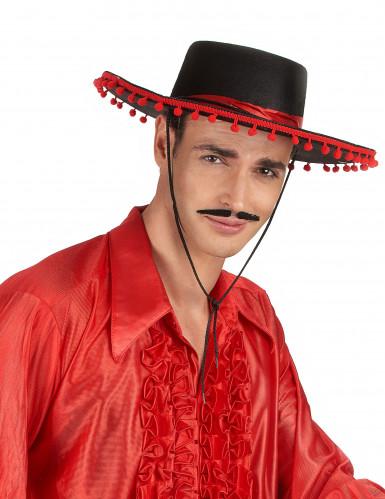 Hat spansk sort og rød-1