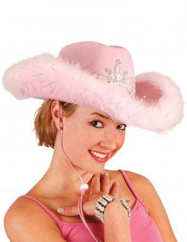 Lyserød cowgirlhat dame