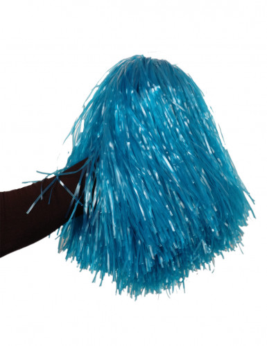 Metallicblå pompon