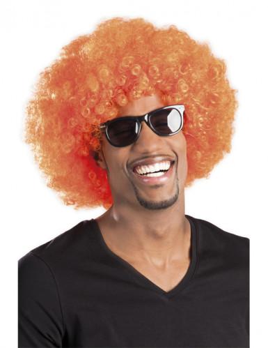 Paryk stor krøllet orange til voksne