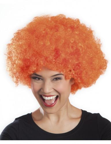 Paryk stor krøllet orange til voksne-1
