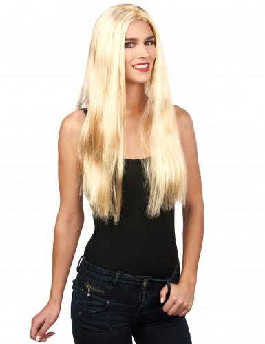 Lang blond paryk til voksne