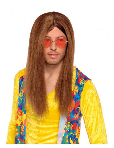 Brun hippieparyk til voksne