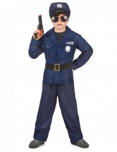 Kostume politibetjent luksus til drenge