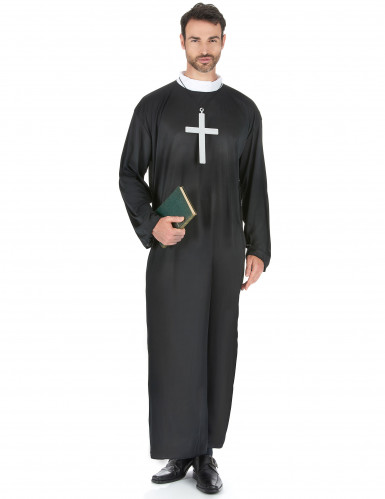 Sort præstekjole til mænd