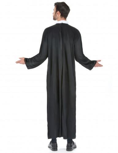 Sort præstekjole til mænd -2