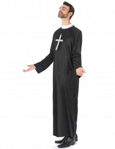 Sort præstekjole til mænd -1