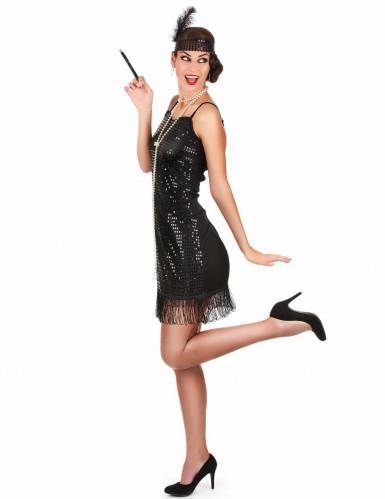 Sort Charlestonkjole til kvinder-1
