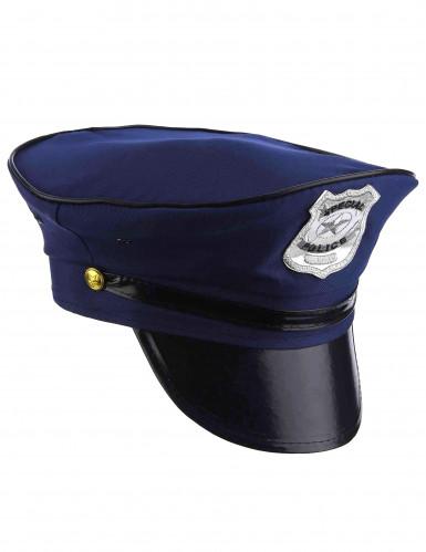 Blå politihat til voksne