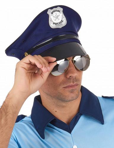 Blå politihat til voksne -1