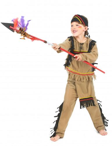 Farverigt indianerkostume til drenge -1