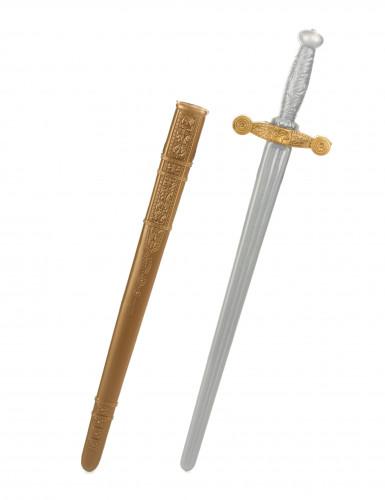 Sværd til middelaldersridder i plastik