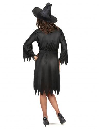 Sort Halloween heksekostume til voksne-2