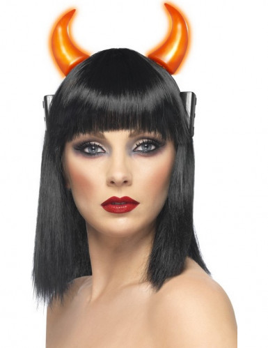 Lysende djævlehorn til voksne - Halloween