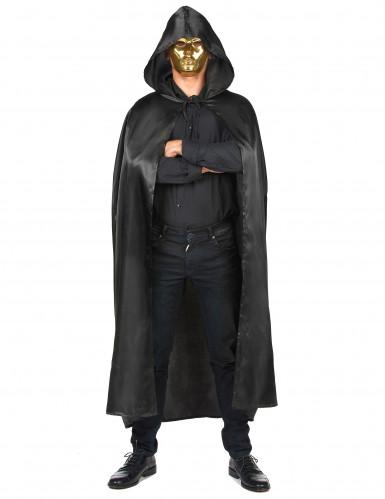 Sort vampyrkappe Halloween voksen-3