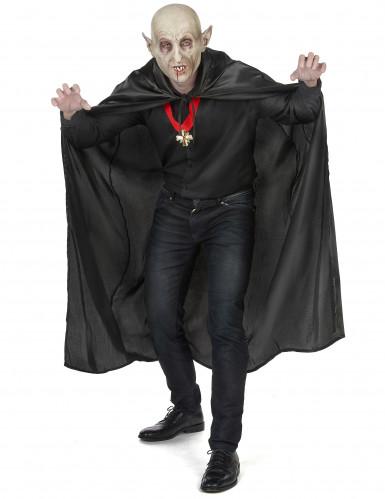 Sort vampyrkappe Halloween voksen-4