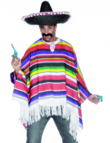 Mexicansk inspireret poncho herre