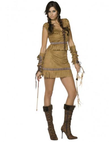 Indianerkvinde-kostume voksen