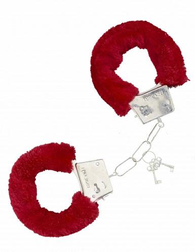 Håndjern i rød pels