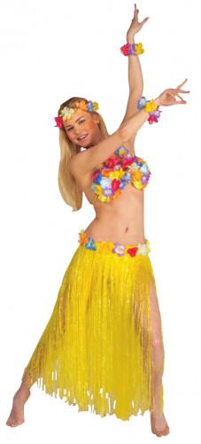 Hawaii-inspireret sæt i gult voksen