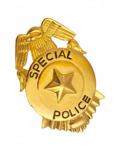 Guldfarvet polititegn