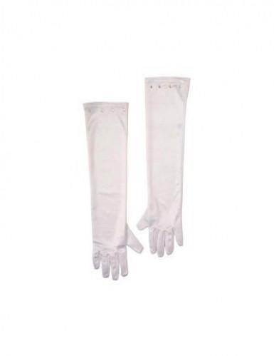 Hvide lange handsker til børn