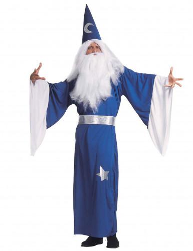 Blå troldmands-kostume herre