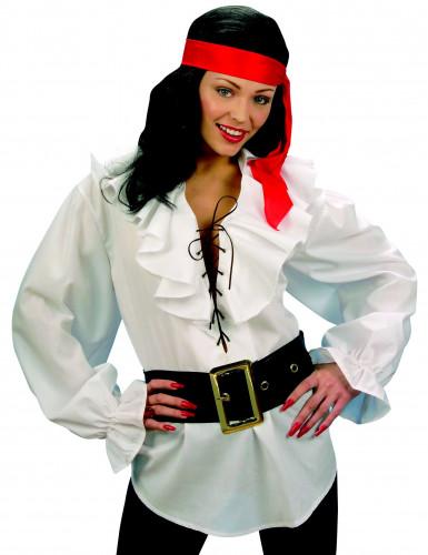 Hvid piratskjorte kvinde