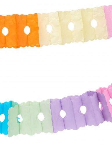 Papirguirlande i flere farver 6 m-1