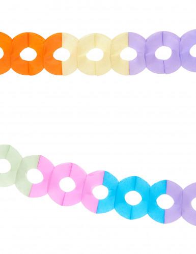 2 guirlander af flerfarvet papir 2,5 m-1