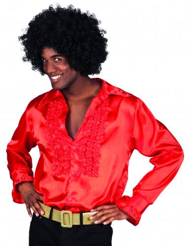 Rød discoskjorte